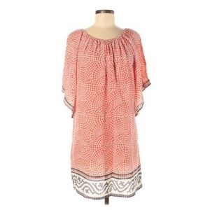 Tolani Shift Dress 100% Silk Tunic Mosaic Medium
